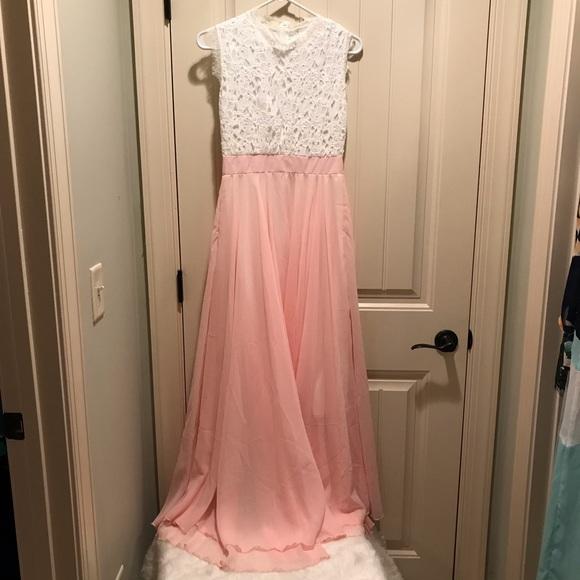 c376576f1f4acd Dresses | Never Worn Sleeveless Lacetop Detail Pink Maxi | Poshmark